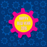 Happy new year 2016 design. Happy new year 2016 gear background design Royalty Free Stock Image