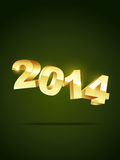 Happy new year design. Golden style 2014 happy new year Stock Photography