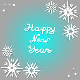 Happy New Year 2017. Design greeting card. Royalty Free Stock Images