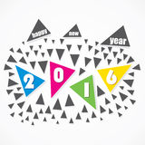 Happy new year 2016 design Royalty Free Stock Photos