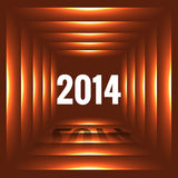 Happy new year design. Happy new year 2014 illustration Royalty Free Stock Photos