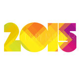 Happy New Year 2015 Design. Illustration Royalty Free Stock Photography