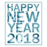 Happy new year 2018 design. Happy new year 2018 logo design illustration made by poligonal technique vector illustration