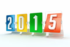 Happy new year 2015. Design made in 3D Royalty Free Stock Images