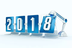 Happy new year 2018 Royalty Free Stock Images