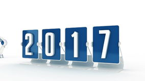 Happy new year 2017 stock footage