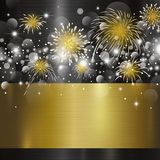 Happy new year design on metal background Royalty Free Stock Photography