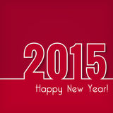 2015 Happy New Year design over red background. Stock Photography