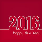 2016 Happy New Year design over red background. Stock Images
