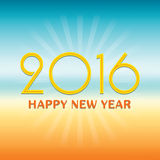 2016 Happy New Year design over tropical style background. Stock Photography
