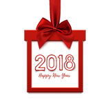 Happy New Year 2018 design, square banner. Stock Photography