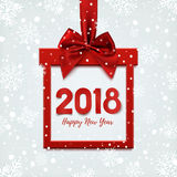Happy New Year 2018 design, square banner. Royalty Free Stock Image