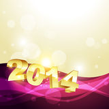 Happy new year design. Stylish 2014 happy new year design Royalty Free Stock Photo