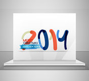 2014. Happy New Year design template Stock Photos