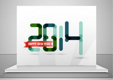2014. Happy New Year design template Royalty Free Stock Photography