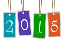 Happy new year 2015 Design. Happy new year 2015 Text Design Royalty Free Stock Images