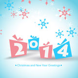 Happy new year design. Vector 2014 happy new year design illustration Stock Images