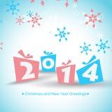 Happy new year design. Vector 2014 happy new year design illustration royalty free illustration