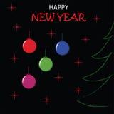 Happy New Year Design. Vector illustration. Royalty Free Stock Photo