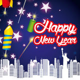 Happy new year. Design, vector illustration eps10 graphic Stock Photos