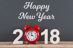 Happy New Year 2018. On desk new year working Royalty Free Stock Photos