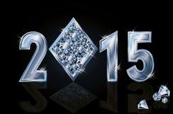 Happy 2015 New year diamonds poker Stock Images
