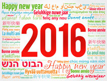 2016 Happy New Year in different languages Royalty Free Stock Photo