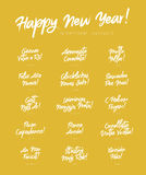 Happy New Year in different languages royalty free illustration