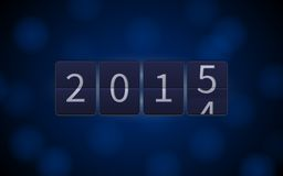 Happy New Year 2015, digital clock, light effects Stock Images