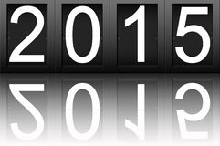 Happy New Year 2015, digital number.  Stock Photography