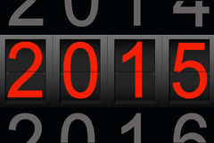 Happy New Year 2015, digital number.  Stock Images