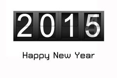 Happy New Year 2015, digital number countdown.  Royalty Free Stock Photo