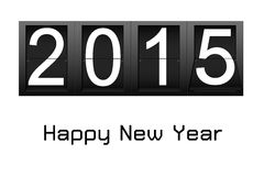 Happy New Year 2015, digital number countdown Royalty Free Stock Photography