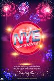 Happy New 2019 Year! Disco ball on glitter Lights Background with Bokeh Effect and Fireworks. Vector EPS 10. To see similar, please VISIT MY PORTFOLIO vector illustration