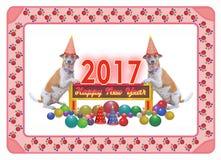 Happy new year 2017 stock illustration