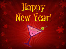 Happy New Year Drink Stock Images