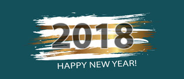 Happy New Year 2018. Dynamic design elements. Vector. Illustration Stock Images
