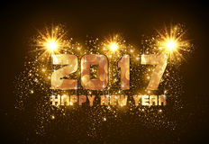 Happy New Year 2017. Easy all editable Stock Photos