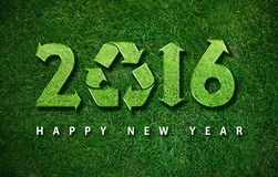 Happy New year. 2016, with ecology concept for 2016 year, the same concept available for 2017 year Royalty Free Stock Photo