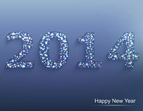 Happy new year 2014. Сelebration background. Stock Image