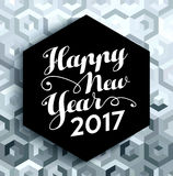 Happy New Year 2017 elegant silver background Stock Photography