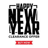 Happy new year element design banner and label sticker sale offer advertising. Vintage letter happy new year. Vector illustration EPS.8 EPS.10 stock illustration