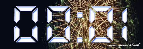 Happy new year and enjoy your starting year. Happy new year - enjoy your starting year Stock Photo