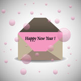 Happy New Year envelope Royalty Free Stock Images