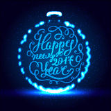 Happy New Year EPS 10. Holiday Vector Illustration. Shiny Lettering Composition With Stars And Sparkles. Happy New Year. Holiday Vector Illustration. Shiny Royalty Free Stock Photo