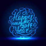 Happy New Year EPS 10. Holiday Vector Illustration. Shiny Lettering Composition With Stars And Sparkles Stock Image