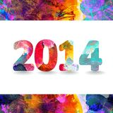 Happy new year 2014. EPS 10 Stock Photography