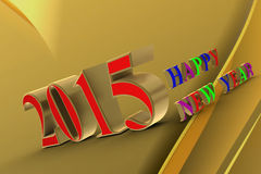 Happy New Year 2015. ! In the new 2015, everything will be new Stock Images