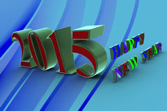 Happy New Year 2015. ! In the new 2015, everything will be new Royalty Free Stock Images