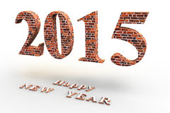 Happy NEW YEAR. ! In the new 2015, everything will be new Stock Images